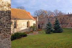 Binnenland van middeleeuwse vesting Royalty-vrije Stock Afbeelding