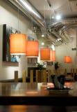 Binnenland van modern nigtstaaf of restaurant royalty-vrije stock foto's