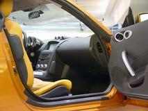 Binnenland van moderne auto stock afbeeldingen
