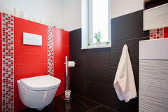 Binnenland van moderne badkamers Royalty-vrije Stock Foto's