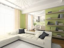 Binnenland van moderne flat Stock Afbeelding