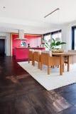 Binnenland van moderne huiskeuken Royalty-vrije Stock Afbeeldingen