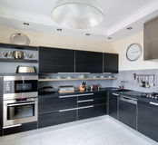 Binnenland van moderne keuken Stock Fotografie