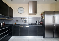 Binnenland van moderne keuken Royalty-vrije Stock Afbeelding