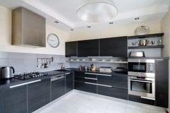 Binnenland van moderne keuken Royalty-vrije Stock Afbeeldingen