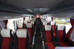 Binnenland van moderne lege bus royalty-vrije stock fotografie