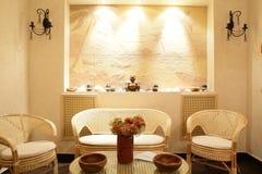 Binnenland van moderne schoonheidssalon royalty-vrije stock foto's