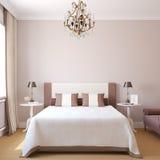 Binnenland van moderne slaapkamer Royalty-vrije Stock Foto's