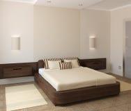 Binnenland van moderne slaapkamer Stock Afbeelding