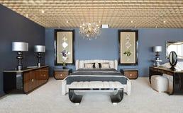 Modern binnenland. Slaapkamer. Royalty-vrije Stock Afbeelding