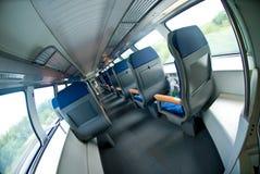 Binnenland van moderne trein Stock Afbeeldingen