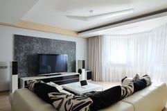 Binnenland van moderne woonkamer Stock Afbeeldingen