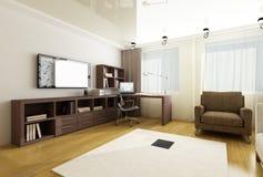Binnenland van moderne woonkamer Stock Foto