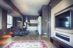 Binnenland van moderne woonkamer Royalty-vrije Stock Fotografie