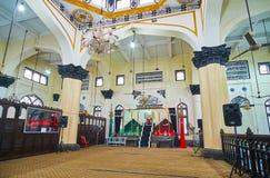 Binnenland van Mogolmoskee, Yangon, Myanmar Royalty-vrije Stock Foto's