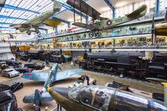 Binnenland van nationaal technisch museum in Praag Voor over honderd jaar uitgebreide mede stock foto
