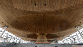Binnenland van Nationale assemblee voor Wales A royalty-vrije stock foto's
