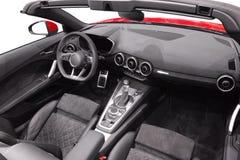 Binnenland van nieuw Audi TT Stock Foto's
