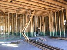 Binnenland van nieuw huis in aanbouw Royalty-vrije Stock Foto