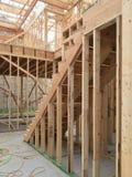 Binnenland van nieuw huis in aanbouw Stock Fotografie