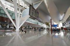 Binnenland van nieuwe moderne terminal bij de Lucht van Lech Walesa Royalty-vrije Stock Foto