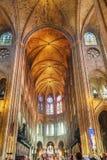 Binnenland van Notre Dame de Paris stock afbeelding