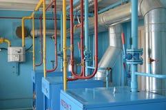 Binnenland van onafhankelijke gasboiler stock foto's