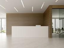 Binnenland van ontvangst en vergaderzaal 3D illustratie Royalty-vrije Stock Afbeelding