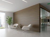 Binnenland van ontvangst en vergaderzaal 3D illustratie Stock Afbeeldingen
