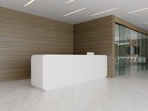 Binnenland van ontvangst en vergaderzaal 3D illustratie Royalty-vrije Stock Foto's