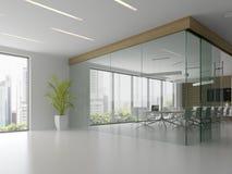 Binnenland van ontvangst en vergaderzaal 3D illustratie Stock Fotografie