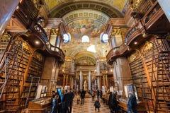 Binnenland van Oostenrijkse Nationale Bibliotheek royalty-vrije stock foto