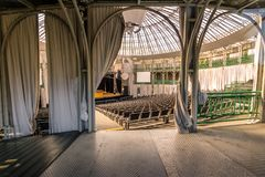 Binnenland van Opera DE Arame Theater - Curitiba, Parana, Brazilië royalty-vrije stock afbeeldingen