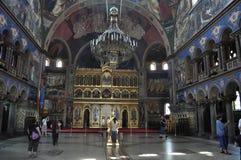 Binnenland van Orthodoxe Katholieke Kathedraal in Sibiu Stock Foto's