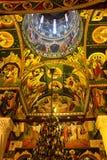Binnenland van orthodoxe kerk Stock Afbeeldingen