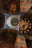 Binnenland van orthodoxe kerk Stock Foto's