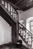 Binnenland van oud huis Stock Foto