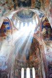 Binnenland van oud klooster Stock Foto