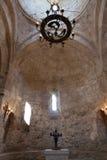 Binnenland van Oude Albanese kerk Kish Azerbaijan Royalty-vrije Stock Fotografie