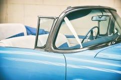 Binnenland van oude auto Stock Afbeelding