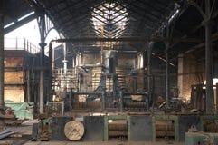 Binnenland van oude fabriek Royalty-vrije Stock Fotografie