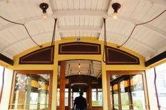 Binnenland van oude Tram Royalty-vrije Stock Afbeelding