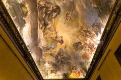 Binnenland van Palazzo Barberini, Rome, Italië Stock Afbeeldingen