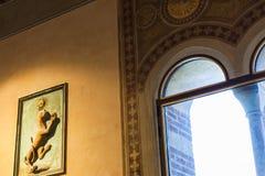 Binnenland van Palazzo-della Ragione in Verona Royalty-vrije Stock Fotografie