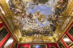 Binnenland van Palazzo Pitti, Florence, Italië Stock Afbeelding