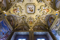 Binnenland van Palazzo Pitti, Florence, Italië Stock Fotografie
