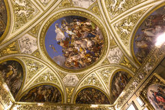 Binnenland van Palazzo Pitti, Florence, Italië Stock Afbeeldingen