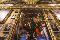 Binnenland van Palazzo Pitti, Florence, Italië Royalty-vrije Stock Foto's