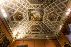 Binnenland van Palazzo Pitti, Florence, Italië Stock Foto