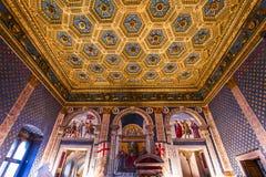 Binnenland van Palazzo Vecchio, Florence, Italië Royalty-vrije Stock Foto's